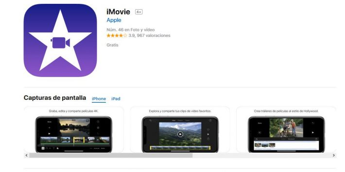Editor gratuito vídeo imovie