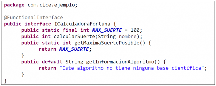 Expresiones lambda e interfaces funcionales
